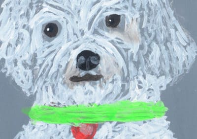 Acrylic Dog Painting, age 9