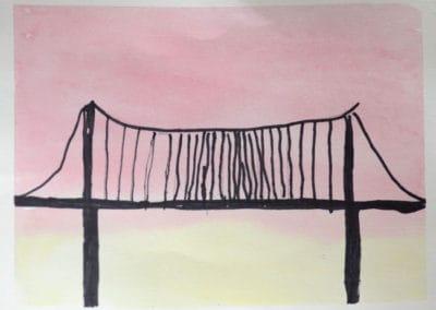 Bridge at Sunset, age 5