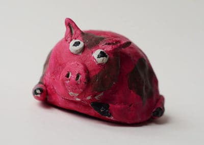 Clay Pig, by Discovering Your Art Student, age 8