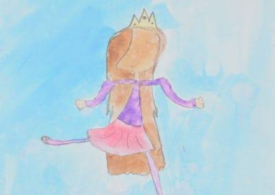 Dancing Ballerina Watercolor, age 9