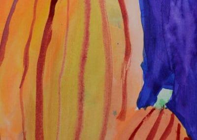 Fall Pumpkins Painting, age 9