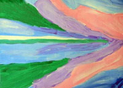 Georgia O'keeffe Style Painting, age 9