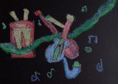 Musical Chalk Pastel, age 9