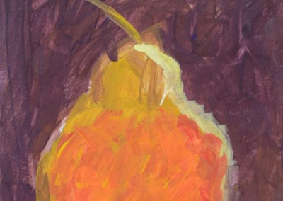 Pear Still Life Painting, age 6