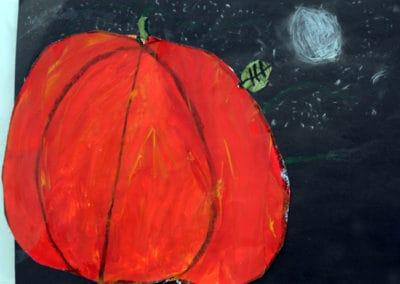 Pumpkin At Night, age 8