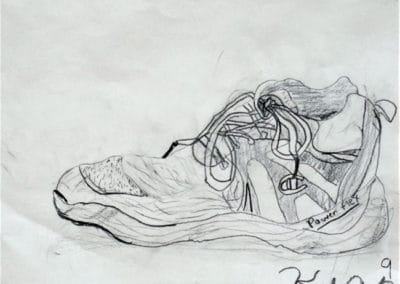 Shoe Drawing, age 9