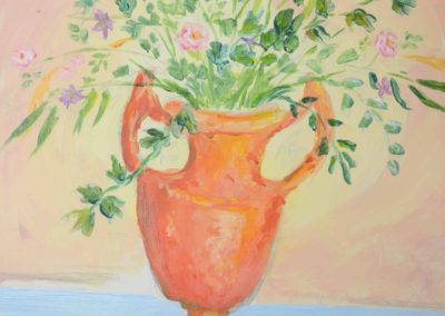 Still Life Flower Pot Painting, by Mastering Your Art Student, age 14
