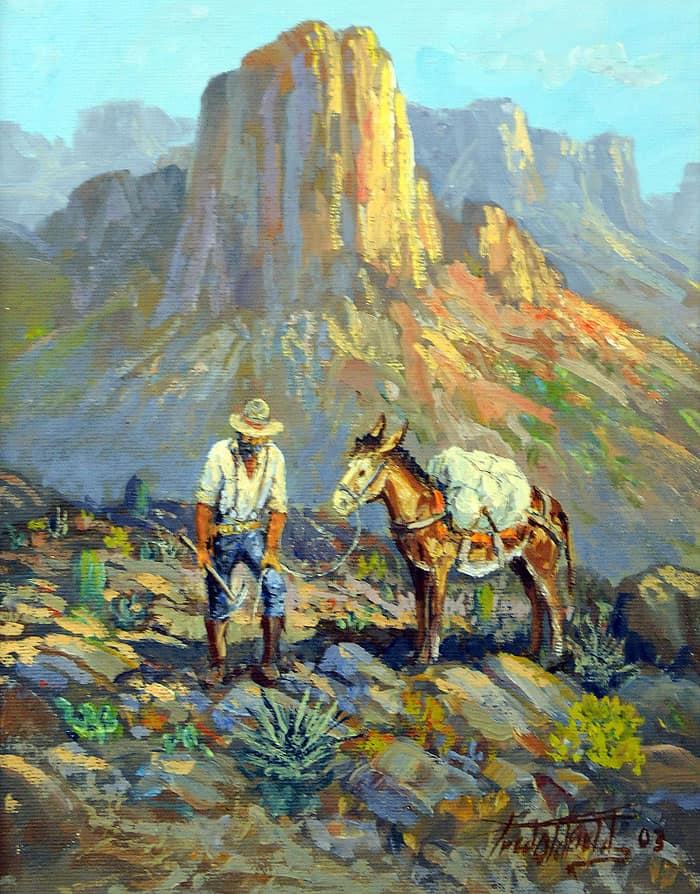 The Old Prospector, Fred Oldfield Original Painting