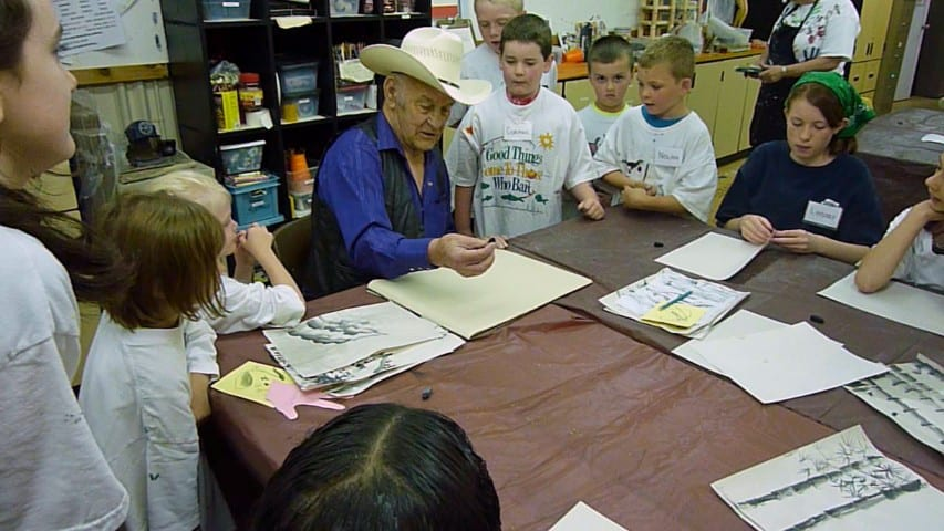 Fred Oldfield, teaching kids art