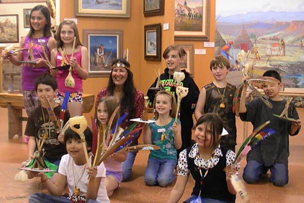 American Indian Day Art Class Students